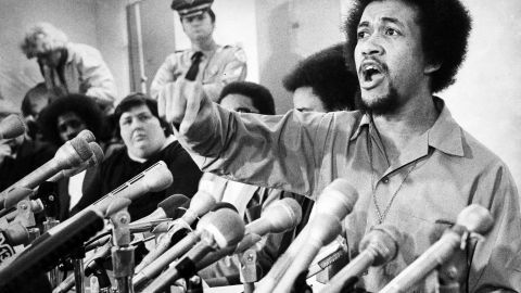 Ben Chavis speaks at a news conference in 1978 the day after Gov. Jim Hunt's decision to reduce the sentences of the Wilmington 10. Hunt refused to pardon the group.