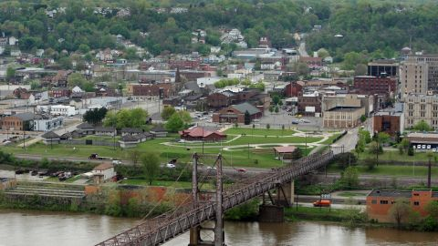 STEUBENVILLE, OH - MAY 05:  The town of Steubenville sits near the Ohio River on May 5, 2009 on the edge of Steubenville, Ohio. The Severstal Wheeling Steel Mill, one of the town's main sources of income and employment, has halted production and has laid off all but a few employees to keep on for safety and security watch. The future is uncertain for steel towns of the Ohio Valley and other areas as demand for steel is the lowest it has been in roughly 70 years. Operating utilization at U.S. steel mills has dropped to 43%, a level not seen since the Depression.  (Photo by Rick Gershon/Getty Images)