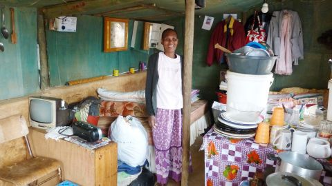 Nosanjo Plaatjie (pictured) and her three young children were chosen to become the occupants of the iShack prototype, based in Enkanini, outside Stellenbosch, South Africa.