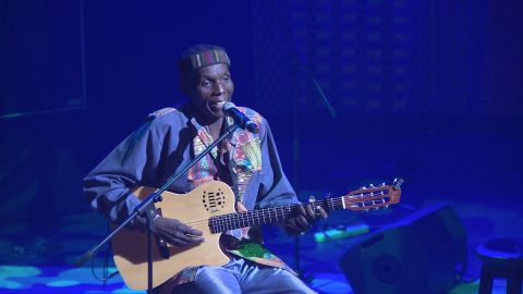 """Mtukudzi's distinct musical style has been described as a mixture of Zimbabwean pop style """"jit"""" and South African township pop. """"Where I come from you don't get to sing a song if you have nothing to say,"""" he says. """"So every song has something to do with that man in the street, he must be able to use it in his life."""""""