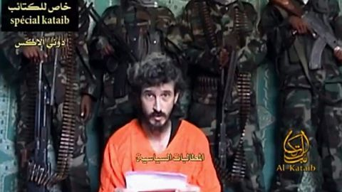 An undated TV grab shows Denis Allex, a French hostage allegedly held -- and possibly killed -- by Somali militants.