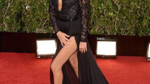 Eva Longoria's legs looked miles long in her custom Emilio Pucci gown.