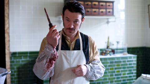 """Capt. Homer Jackson, played by Adam Rothenberg, is an ex-Pinkerton detective with an interest in early forensics. """"He's making it up as he goes along. Jackson is doing autopsies and handling evidence, drenched in blood and smoking cigarettes,"""" Rothenberg said."""