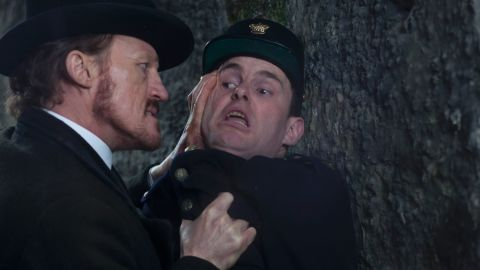 Sgt. Bennet Drake, played by Jerome Flynn, isn't above using violence to make people talk -- even his fellow policemen.
