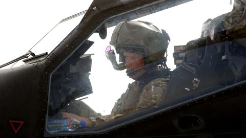 Prince Harry sits in his Apache helicopter gunship on his recent tour of duty in Afghanistan.