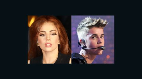 On Monday night, Lady Gaga was surpassed by Justin Bieber as the most followed person on Twitter.