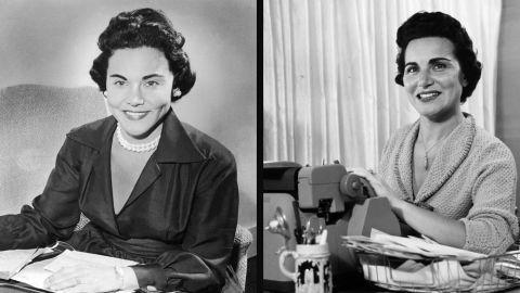 "Esther ""Eppie"" Lederer, left, doled out advice under the name Ann Landers, while her twin sister, Pauline Phillips, authored the ""Dear Abby"" advice column under the pseudonym Abigail Van Buren."