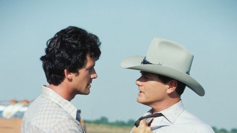 """Probably the biggest (fictional) brother vs. brother rivalry took place on the popular 1980s TV show """"Dallas.""""  Bad boy J.R. Ewing -- played by actor Larry Hagman, right -- squared off against his good-guy brother Bobby, played by Patrick Duffy."""