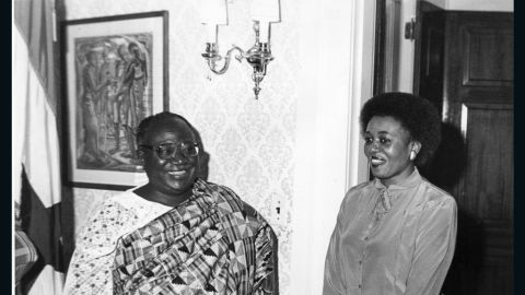 For some 30 years, Bartels has been working in the Ghanaian embassy in the United States as a secretary.