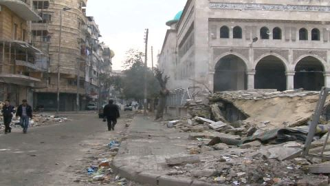 Hundreds of thousands of Syrians have stayed in the battleground city of Aleppo.