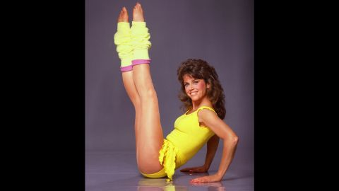 """1982: The aerobics craze steps into high gear when Jane Fonda launches her first exercise video, """"Workout: Starring Jane Fonda."""" Her catch phrase: """"No pain, no gain."""""""