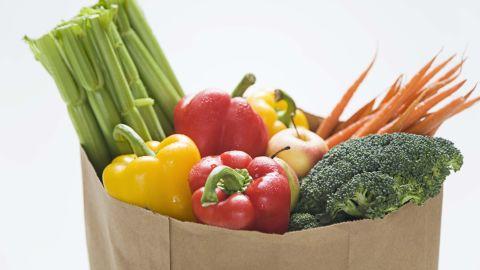 vegetables grocery bag