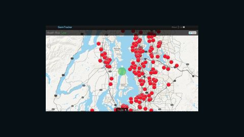 The Germ Tracker web app features a map of flu-related tweets.