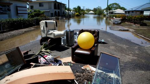Debris lies in a street in Bundaberg, Australia, on Wednesday, January 30.