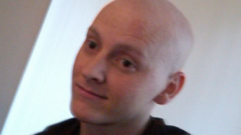 James Curry during his cancer treatment.