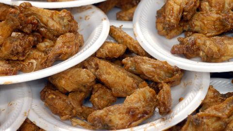 """According to that same poll, among those U.S. adults who eat chicken wings, 65% say Buffalo wings are among their favorite flavors/styles of wings. 39% prefer mild, 36% hot and 8% choose the """"atomic"""" option."""