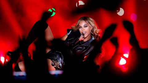 Pop singer Beyonce performs in February 2013 during the Pepsi Super Bowl XLVII Halftime Show in New Orleans.