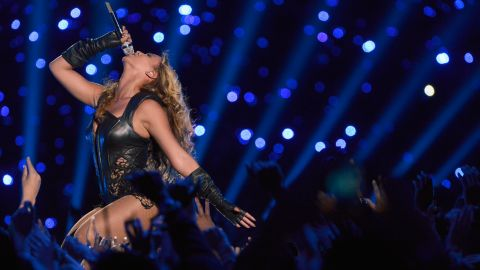 Beyonce hits a high note.