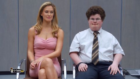 """Jesse Heiman became a famous face overnight after the controversial <a href=""""http://startingpoint.blogs.cnn.com/2013/02/04/video-godaddy-actor-on-kissing-bar-rafaeli-in-super-bowl-ad-it-worked/"""">GoDaddy.com</a> ad, where he played a nerd who locked lips with model Bar Rafaeli."""