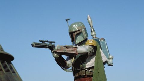 """Fan favorite Boba Fett in """"Star Wars Episode VI: Return of the Jedi."""" Disney and Lucasfilm have yet to say which characters will be featured in the upcoming spinoff films."""