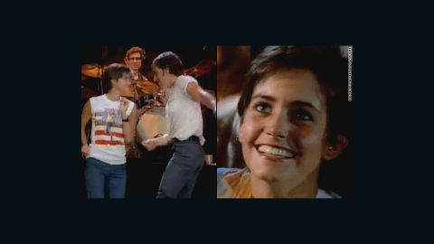 """Remember the young woman the Boss dances with in the 1984 music video for <a href=""""http://www.youtube.com/watch?v=129kuDCQtHs&t=2m31s"""" target=""""_blank"""" target=""""_blank"""">""""Dancing in the Dark?""""</a> That's a pre-""""Cougar Town""""/""""Friends""""/""""Family Ties"""" Courteney Cox."""