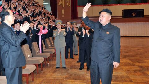 North Korean leader Kim Jong-Un during the 4th Conference of Cell Secretaries of the Workers' Party of Korea (WPK) in Pyongyang.
