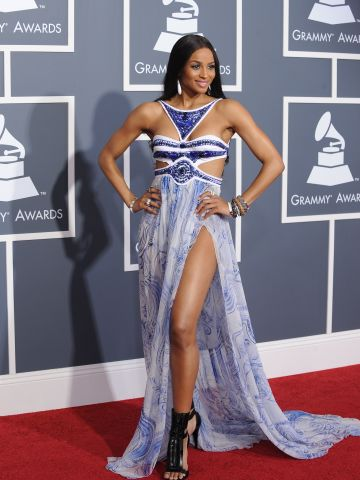 Ciara showed just enough skin in this cutout dress on the red carpet in 2011.