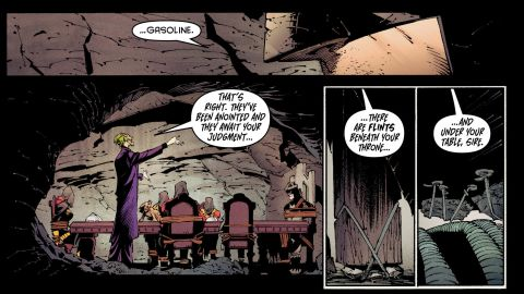 """The Joker has imagined himself as a """"king's"""" (that is, Batman's) jester, but he's not too fond of the king's """"court"""" of allies."""