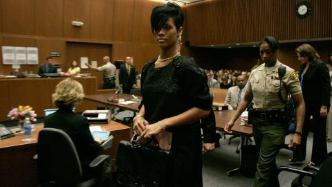 """Months after the incident, Rihanna left a preliminary hearing at court in Los Angeles in June 2009. """"We just fell really fast, and the more in love we became, the more dangerous we became for each other -- equally as dangerous -- because it was a bit of an obsession,"""" Rihanna said during a <a href=""""http://abcnews.go.com/2020/video?id=9020947"""" target=""""_blank"""" target=""""_blank"""">2009 interview with Diane Sawyer</a>."""