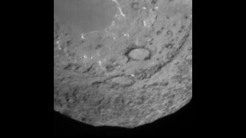 NASA's Deep Impact mission's impactor probe snapped this picture 90 seconds before the probe was pummeled by Comet Tempel 1 on July 4, 2005.