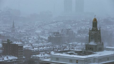 Snow blankets Boston on February 9.