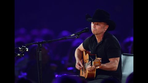 """Singer Kenny Chesney performs """"One Step Up."""""""