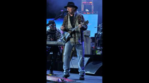 """Neil Young performs """"Born in the USA."""""""