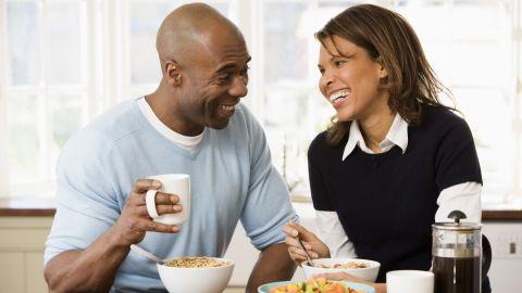 coffee breakfast couple