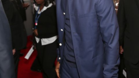 """<strong>January 2013:</strong> <a href=""""http://www.cnn.com/2013/02/02/showbiz/chris-brown-fight-allegations/index.html"""" target=""""_blank"""">Los Angeles detectives investigated a brawl allegedly involving Brown and singer Frank Ocean</a>, pictured, at a West Hollywood recording studio on January 27. Witnesses said Brown punched a man, a sheriff's statement said. No charges were filed, but the incident was included months later when a prosecutor sought to have Brown's probation revoked."""
