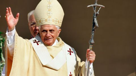 Pope Benedict XVI visits his native Bavaria on September 11, 2006 in Altoetting, Germany.
