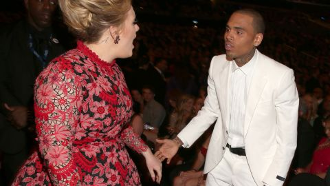 """Chris Brown to Adele: """"Your song 'Someone Like You' really speaks to me."""""""