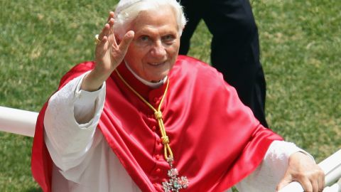Pope Benedict XVI attends the 2012 World Meeting of Families at Meazza Stadium on June 2, 2012 in Milan, Italy.