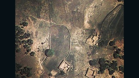 """<a href=""""http://dronestagram.tumblr.com/"""" target=""""_blank"""" target=""""_blank"""">Dronestagram</a> is a social-media effort to document, using Google Earth images, the locations of deadly U.S. drone strikes. This photo shows a pair of mud-built houses in northwest Pakistan where a drone strike was reported on February 8, according to Dronestagram. Local sources reported six drones hovering in the sky at the time of the attack, the site says."""