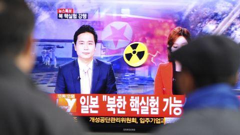 North korea blast tv