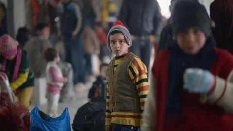 New Syrian refugees arrive at the Za'atari refugee camp on February 1, 2013 in Mafrq, Jordan.