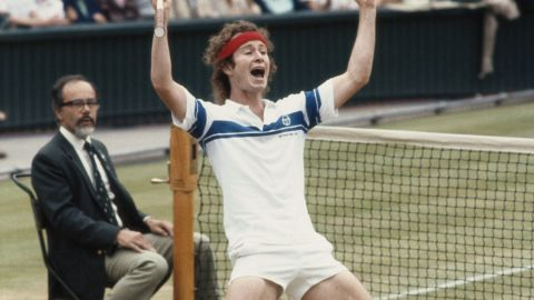 """""""Wimbledon final in 1981 when I finally beat Bjorg."""" McEnroe defeated the Swede 4-6 7-6 7-6 6-4 to win at the home of tennis for the first of three times, his personal career highlight."""