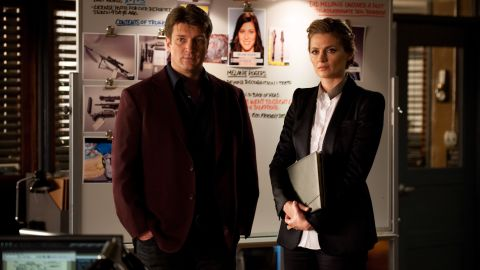"""For four seasons on """"Castle,"""" writer Richard Castle and detective Kate Beckett solved murders both grisly and outlandish -- and fell for each other. They finally made it official with a wedding in 2014."""