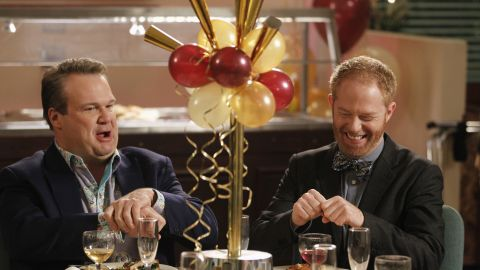 """It's quite a feat to steal scenes regularly on one of the most acclaimed comedies on television, but Cam (Eric Stonestreet, left) and Mitchell (Jesse Tyler Ferguson) make it look easy on """"Modern Family."""""""