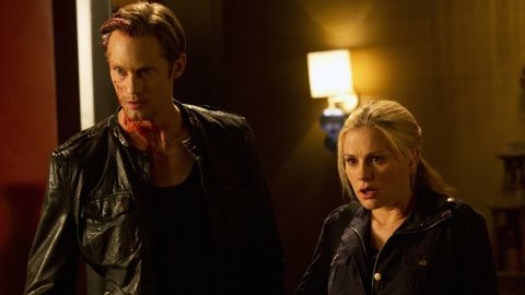 """The love life of Sookie Stackhouse (Anna Paquin) saw more than its share of twists and turns through the years on """"True Blood,"""" but fans seemed to embrace whoever her boyfriend was (such as Alexander Skarsgard, left, as Eric) at any given moment."""