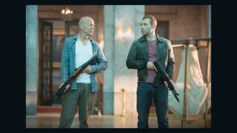 """Bruce Willis stars as John McClane and Jai Courtney stars as Jack McClane in """"A Good Day to Die Hard."""""""