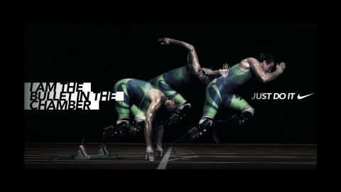 Pistorius' now-questionable  Nike poster