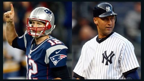 """""""Derek Jeter (right) and Tom Brady,"""" McEnroe says of his most admired current sports stars. """"I think they're incredible team players. I'm an individual but for me to see how they make everyone around them better ...  you don't hear anything about them off the field, it's impressive."""""""