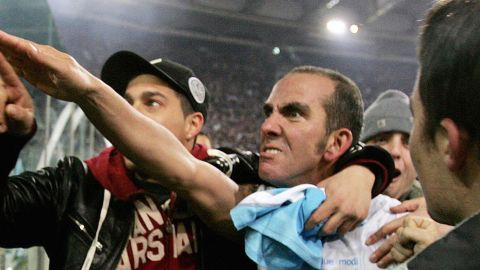 """Di Canio caused controversy as a player after this """"Roman salute"""" to his club Lazio's fans after a derby match against Roma in January 2005. He was later banned one match and fined for a similar gesture during a game against Livorno."""