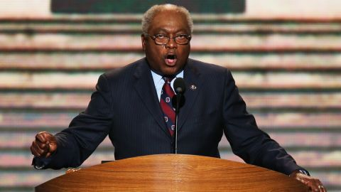 Rep. Jim Clyburn, a South Carolina Democrat and Assistant Democratic Leader, is pictured.